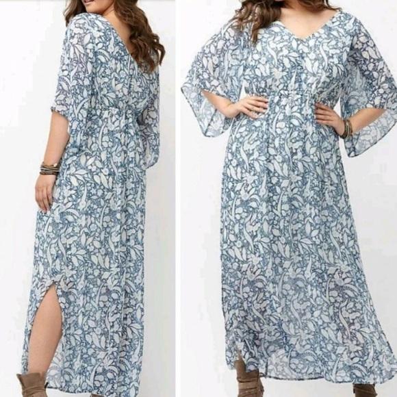 b754dd97255 Lane Bryant Dresses   Skirts - Lane Bryant Boho Floral Maxi Dress Plus Size  26